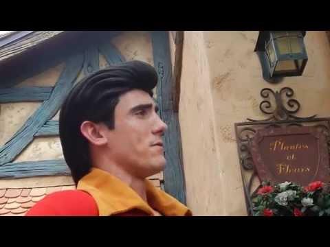 GASTON says NO to bday kiss request at Magic Kingdom Disney World
