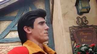 GASTON says NO to bday kiss request at Magic Kingdom Disney World