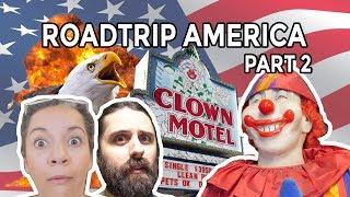 Clown Motel next to a cemetery!?   Roadtrip America Part 2