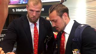The British & Irish Lions Arrive In New Zealand