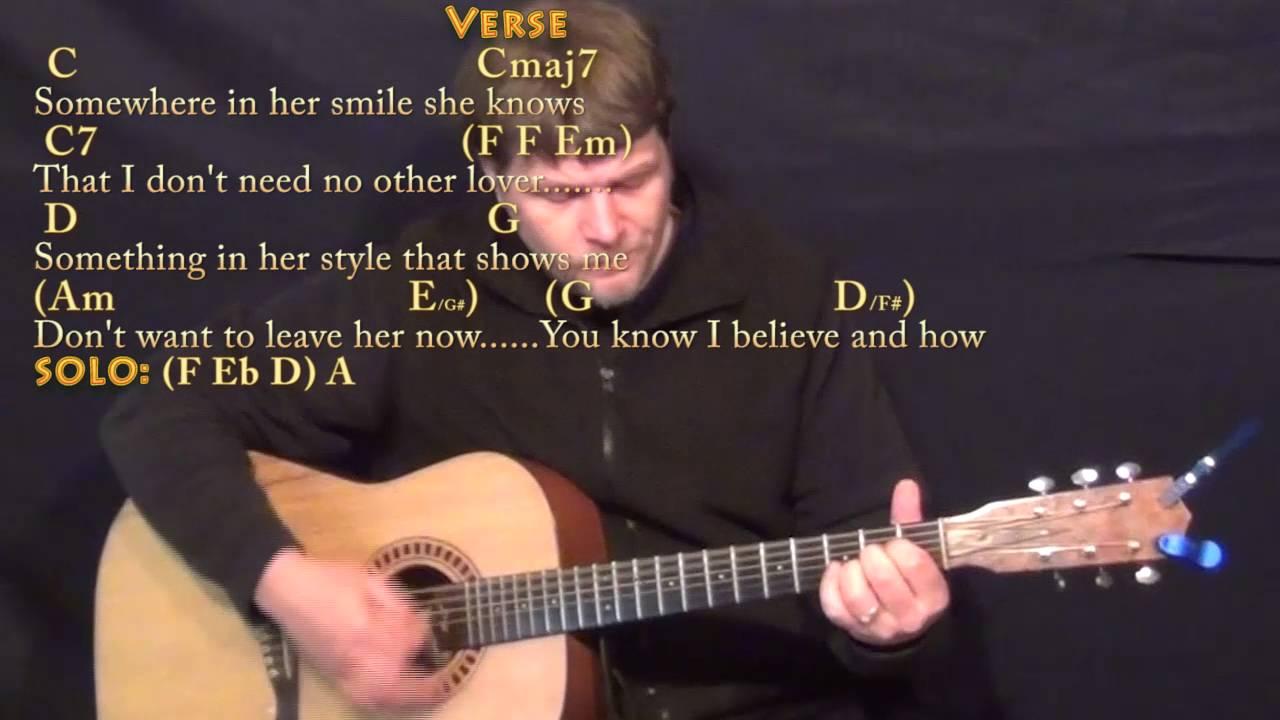 Something The Beatles Guitar Cover Lesson With Chordslyrics Youtube