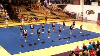 Cheerleading Competition Dancing to StarStruck And Boom Boom Pow