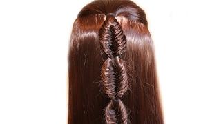 Коса Рыбий хвост❤Плетение кос❤Причёска для средних/длинных волос, причёски девочкам в школу