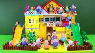 Peppa Pig Blocks Mega House Construction Lego Sets With Water Slide Creative Toys For Kids #4