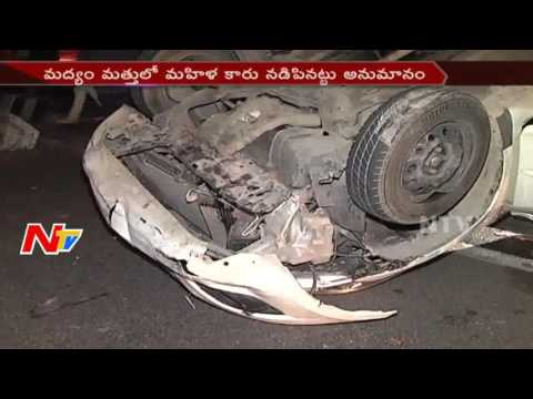 Car Hits Divider And Overturns At GVK One Mall    Hyderabad    NTV