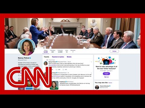 Trump tweets picture to troll Pelosi. She makes it her cover photo