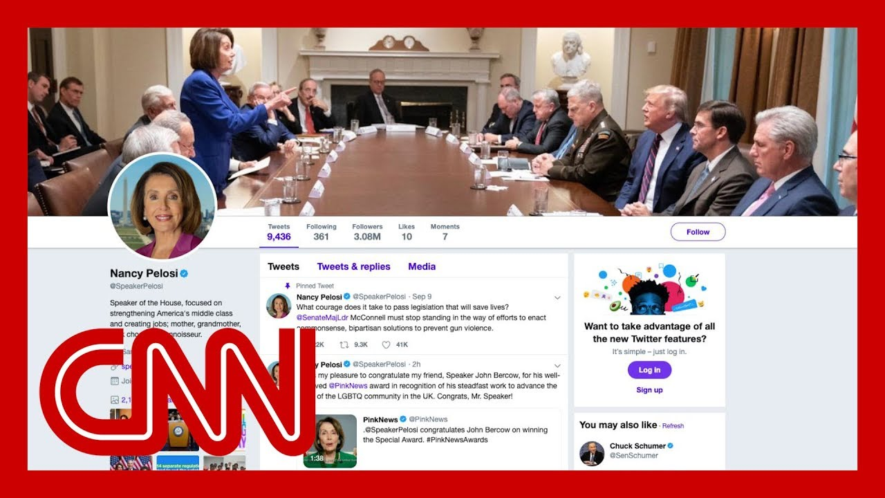 Trump tweeted a photo attacking Nancy Pelosi. She made it her Twitter cover photo.