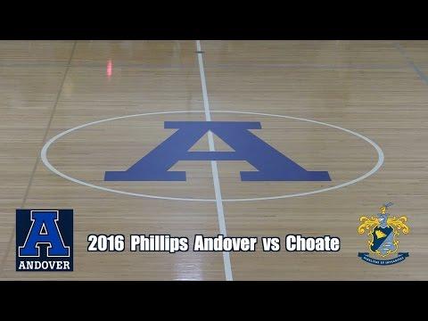 2016 Phillips Andover Basketball vs Choate