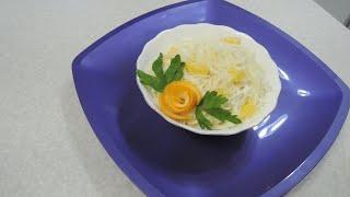 Салат из капусты с апельсином. Два варианта заправки.