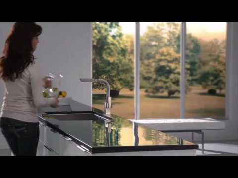 Moen 90 Degree Pullout Kitchen Faucet CA7597C   YouTube