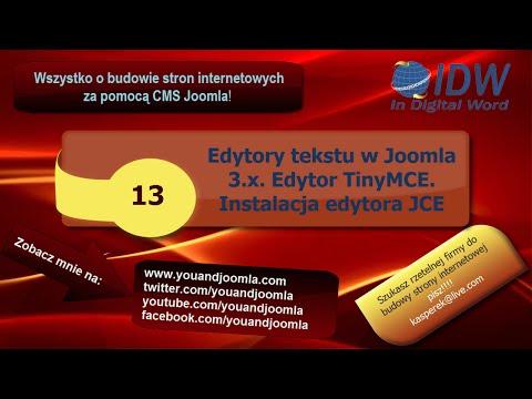 13 Edytory Tekstu W Joomla 3 TinyMCE Wersja Rozszerzona I Edytor JCE Po Polsku