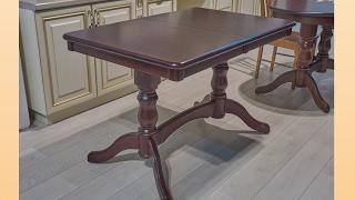 видео Обеденные столы из массива дерева