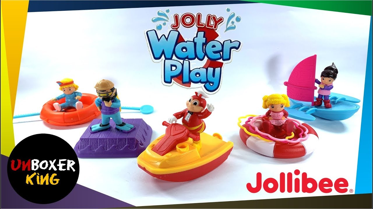 2019 Jolly Water Play Jollibee Kiddie Meal Complete Set