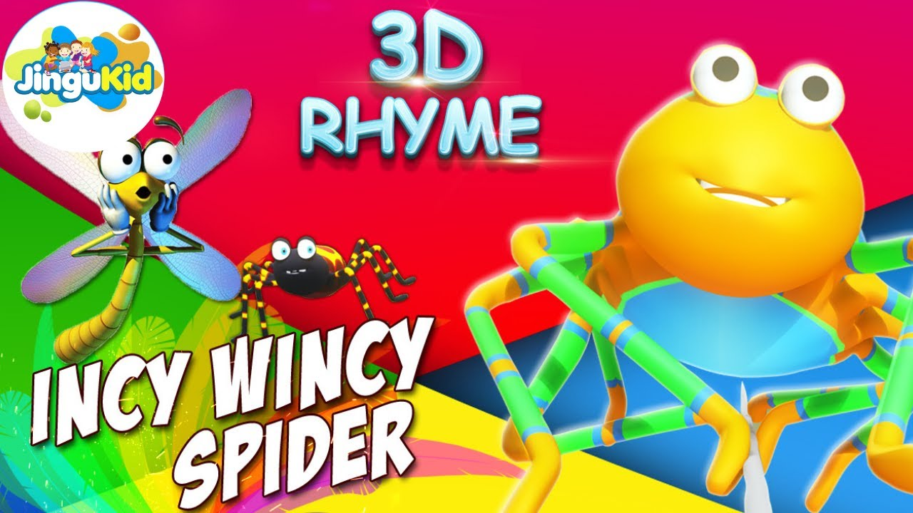 Incy wincy spider nursery rhyme with lyrics