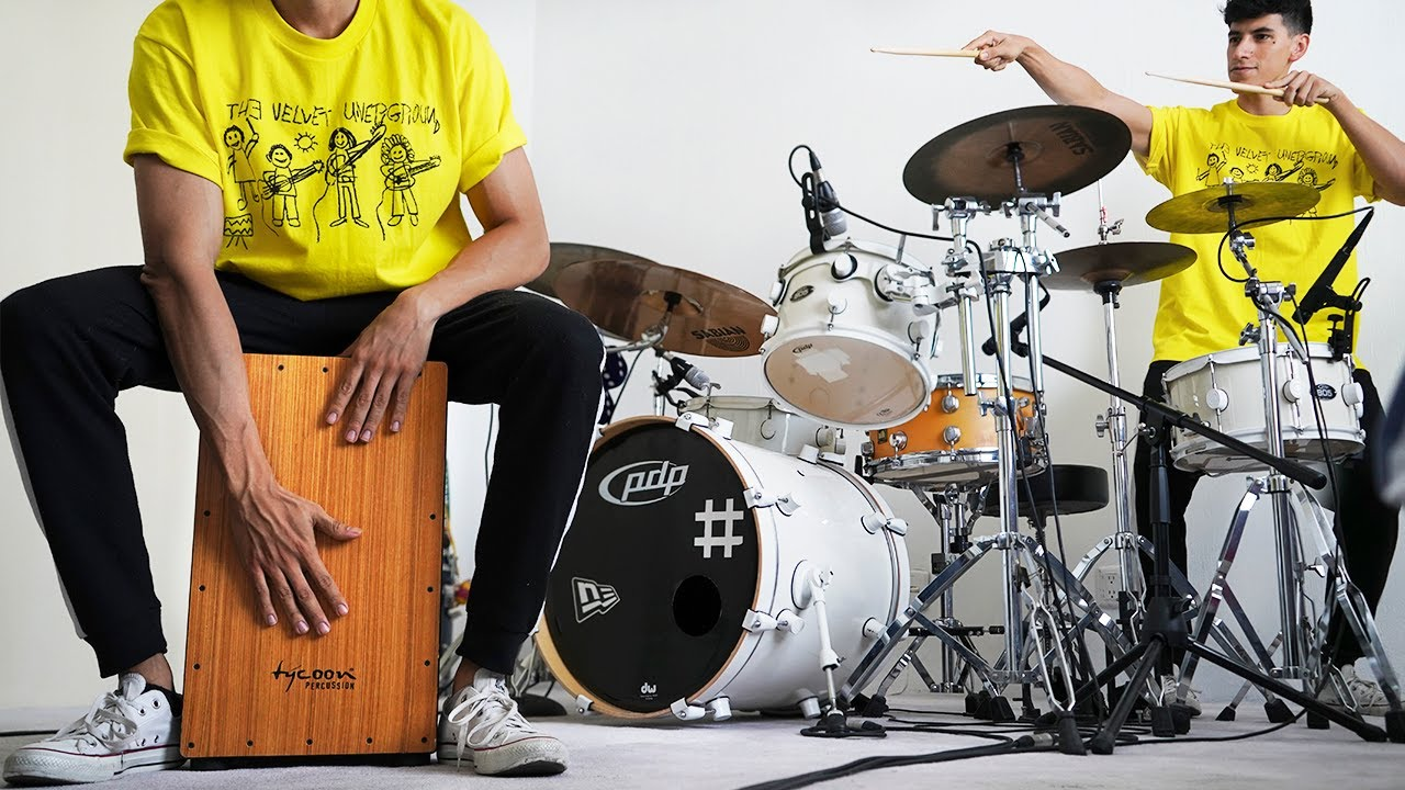 5 COVERS on CAJON and DRUMS  | Cajon Vs Drums