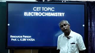 II PUC | CHEMISTRY | CET/NEET/JEE | ELECTROCHEMISTRY - 2021