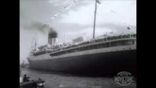 RMS Pretoria Castle Union Castle Line - Her maiden Voyage - Footage
