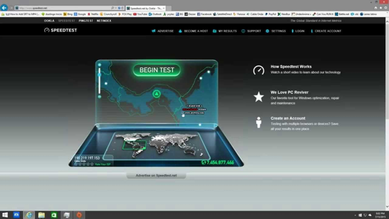 Cable Onda Internet 20 megas Panamá - YouTube