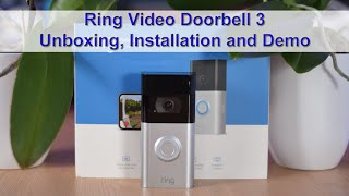 Ring Video Doorbell 3 Unboxing, Installation and Demo