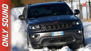 NEW JEEP GRAND CHEROKEE  2017 - SNOW FIRST TEST DRIVE ONLY SOUND