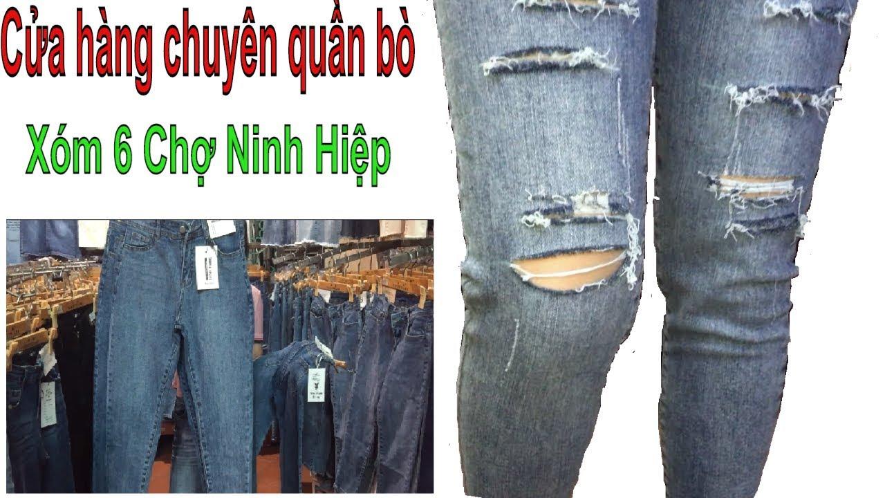 Cửa hàng giá rẻ chuyên quần áo bò xóm 6 chợ Ninh Hiệp – trang vũ tv