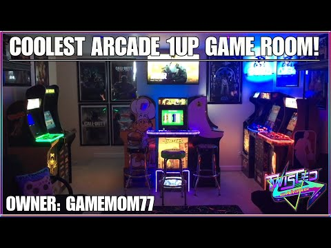 Arcade1Up Coolest Game Room by GameMom77! Approved by Twisted. from TwistedGamingTV