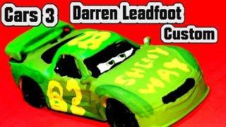 Pixar Cars 3 Custom Darren Leadfoot Diecast with Fabulous Miss Fritter and Primer Lightning McQueen