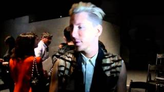 Kyle Anderson at Nicholas K Post show Interview MBFW SS 2012 Anastasia Lambrou Thumbnail