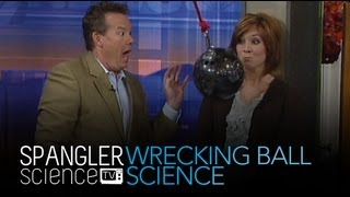 Wrecking Ball Science - Swinging Bowling Ball - Cool Science Experiment