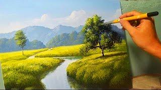 Acrylic Landscape Painting Lesson - The River by JM Lisondra