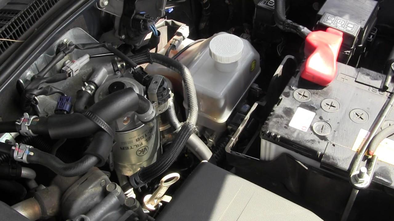 MITSUBISHI Pajero IV 3.2D Работа двигателя и расход топлива - YouTube