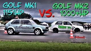16Vampir Golf Mk1 1151HP vs Golf Mk2 1000HP (new record 8,56s @ 278kmh)
