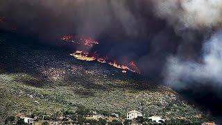 ثلاثة حرائق كبيرة في شمال أثينا وجنوب اليونان   18-7-2015