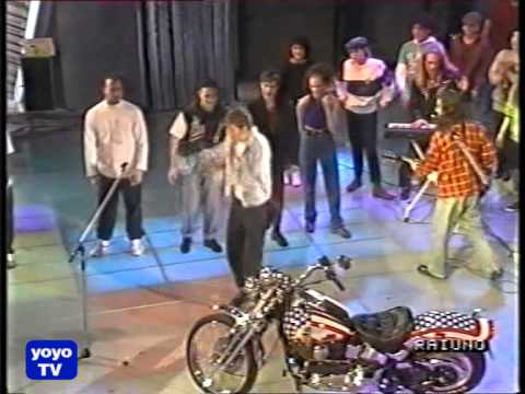 fantastico 90 Jovanotti canta LA MIA MOTO