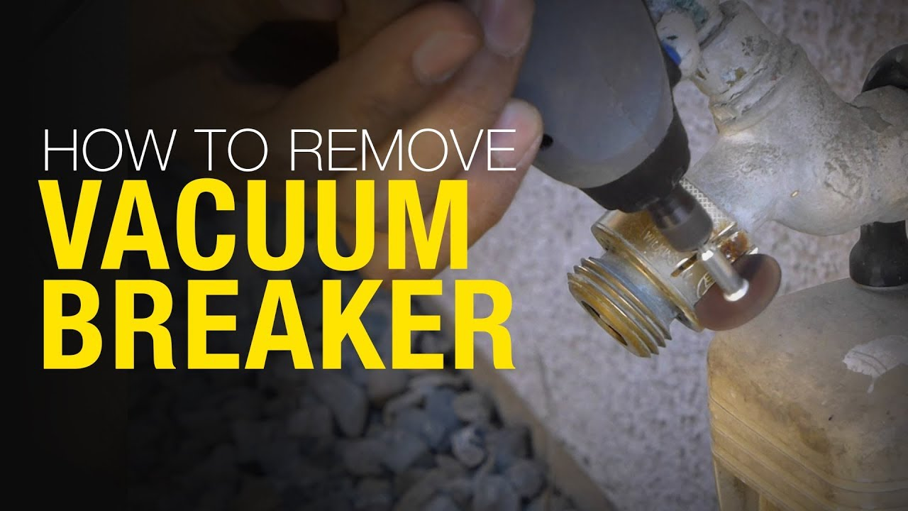 How to remove and replace a Vacuum Breaker Backflow Preventer