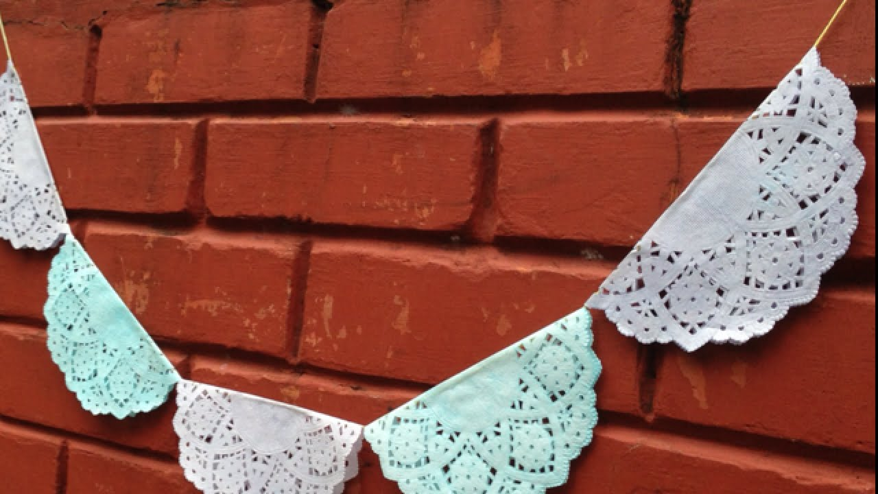Create a Delicate Doily Bunting - DIY Home - Guidecentral - YouTube
