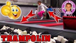 TRAMPOLIN LAND ACTION und FUN   Mega Spaß im Xtreme Jump Trampolin Land   CuteBabyMiley