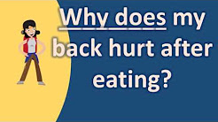 Why does my back hurt after eating ? | BEST Health FAQs