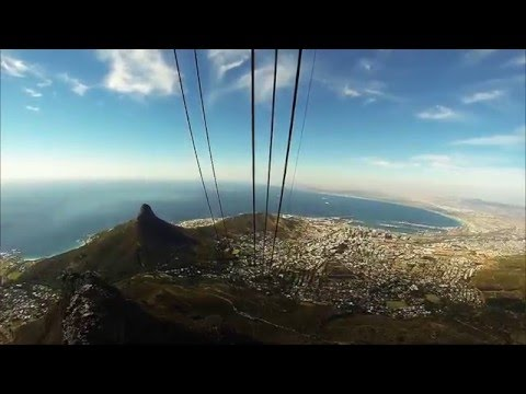 Table Mountain cable railway Cape Town GoPro HD South Africa