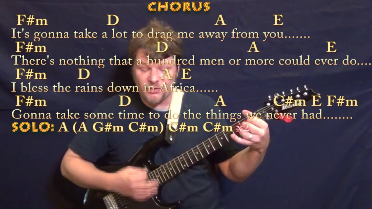 Africa Toto Guitar Cover Lesson In Cm With Chordslyrics Youtube