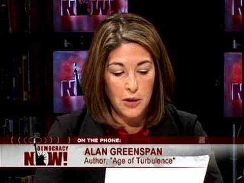 Naomi Klein vs. Alan Greenspan on crony capitalism in the US