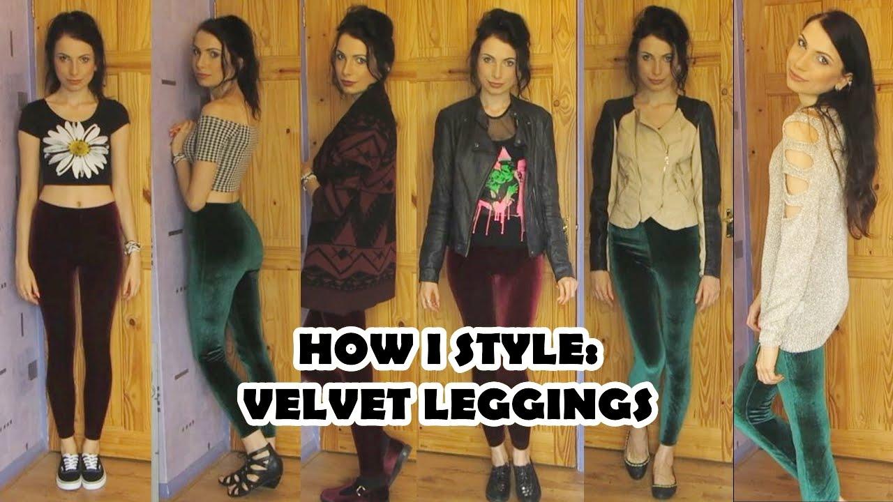3eb4745016c9b How To Style Velvet Leggings from American Apparel - YouTube