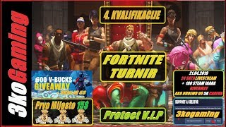 Fortnite Tournament Last Qualifying (Road To 5k to 21.04.2019 = Giveaway 100 games + 24h Live)
