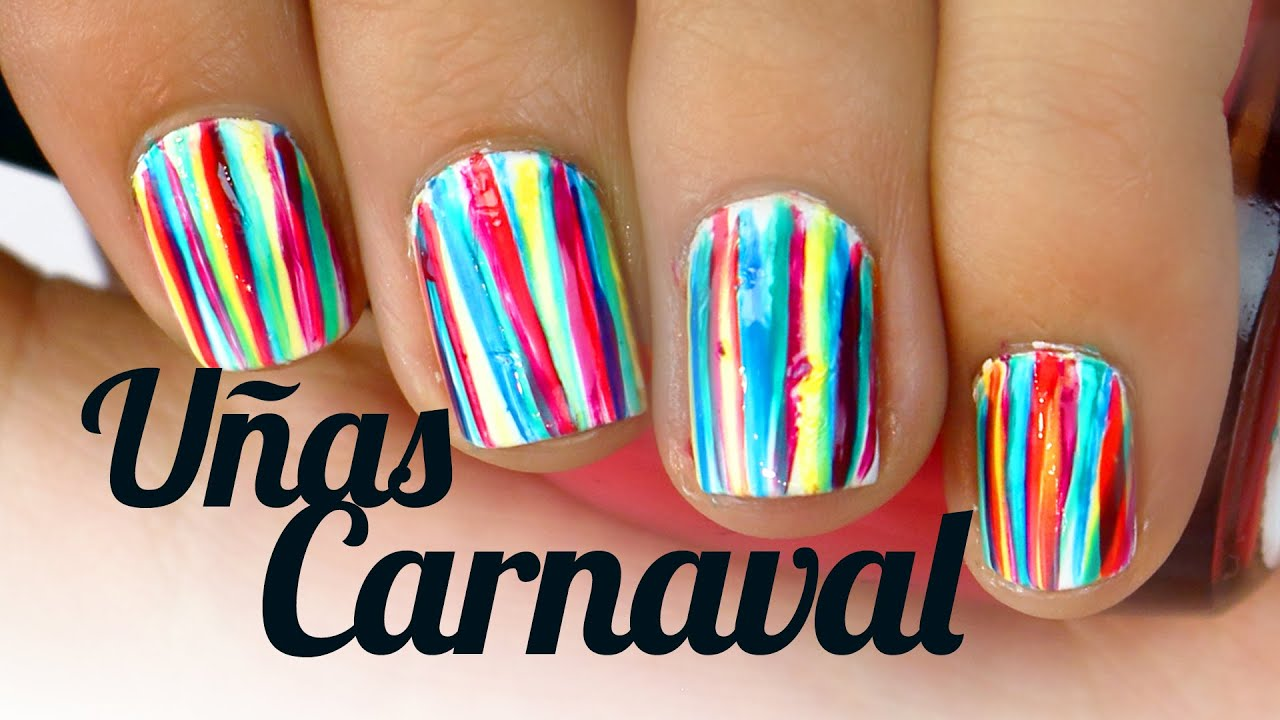 U as carnaval decoradas con esmalte sencillas y bonitas musas youtube - Unas bonitas y faciles ...