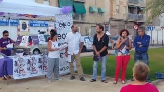 Acto Unidos Podemos en Santiago el Mayor. Presenta nuestra vocal vecinal Oti