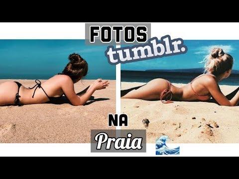 IMITANDO FOTOS TUMBLR NA PRAIA