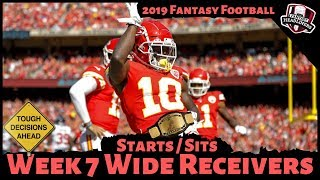 2019 Fantasy Football Advice - Week 7 Wide Receivers - Start or Sit? Every Match Up