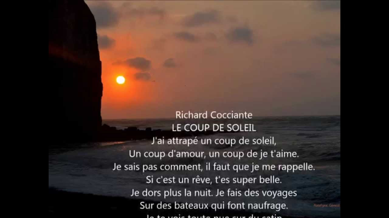 Richard cocciante le coup de soleil paroles de la chanson - Coup de soleil richard cocciante paroles ...
