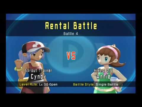 Annie VS Cyndy In A Pokemon Battle Revolution Gateway Colosseum Rental Pokemon Battle