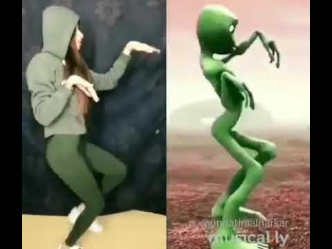 Funny girl and Alien dance